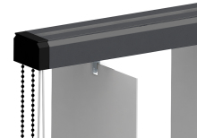 Bandes verticales : Rail gris anthracite